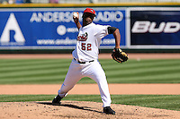 June 15th 2008:  Pitcher Daigoro Rondon of the Great Lakes Loons, Class-affiliate of the Los Angeles Dodgers, during a game at Dow Diamond in Midland, MI.  Photo by:  Mike Janes/Four Seam Images