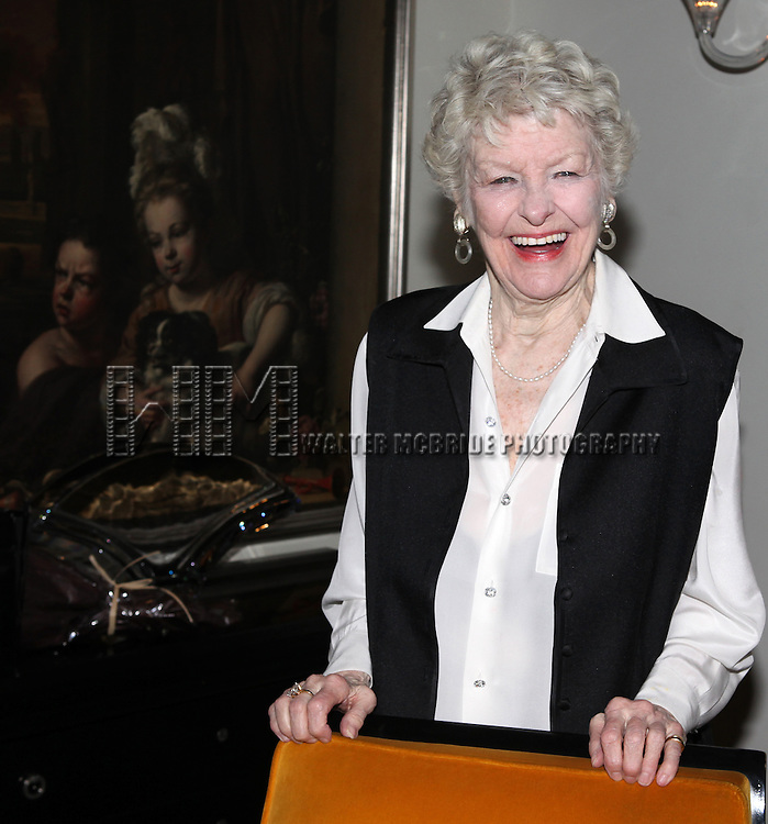 Elaine Stritch attending an after performance reception for  'Elaine Stritch: 'Movin' Over And Out' her final engagement ever at the Cafe Carlyle in New York City on 4/2/2013