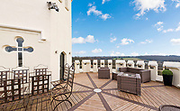 BNPS.co.uk (01202 558833)<br /> Pic: Jackson-Stops/BNPS<br /> <br /> Top floor terrace. <br /> <br /> A historic tower home that has hosted royalty, politicians and rock stars has become available to rent for almost £6,000 a month.<br /> <br /> Ruxley Tower was originally built by The Rt Hon Lord Thomas Foley in 1870 for his wife Evelyne.  Queen Victoria is said to have once taken tea in the drawing room.<br /> <br /> In 2009 the quirky property was rented out to Rolling Stones guitarist Ronnie Wood for two years after his split from wife Jo. The 80ft tower is available to rent through agents Jackson-Stops.