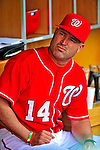 6 June 2009: Washington Nationals' Manager Manny Acta awaits the start of play in the dugout prior to a game against the New York Mets at Nationals Park in Washington, DC. The Nationals defeated the Mets 7-1, marking pitcher John Lannan's first complete game of his career. Mandatory Credit: Ed Wolfstein Photo