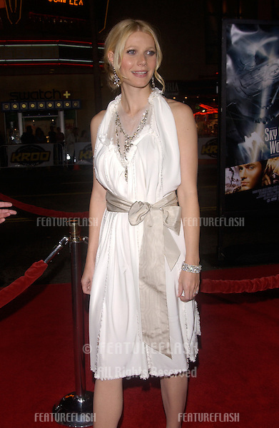 Actress GWYNETH PALTROW at the world premiere, at Grauman's Chinese Theatre Hollywood, of her new movie Sky Captain and the World of Tomorrow..September 14, 2004