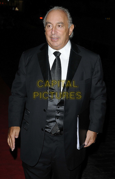 Sir Philip Green.Daily Mail Inspirational Woman of The Year Awards at the Marriott Grosvenor Square Hotel, London, England..January 18th, 2012.half length white black tie suit.CAP/CAN.©Can Nguyen/Capital Pictures.