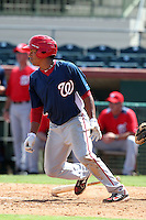 Washington Nationals shortstop Adrian Sanchez #16 during an Instructional League game against the Houston Astros at Osceola County Stadium on September 26, 2011 in Kissimmee, Florida.  (Mike Janes/Four Seam Images)