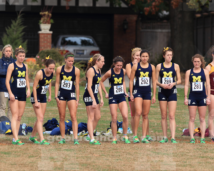 The University of Michigan women's cross country team finished in second at the 2011 Big Ten Championships, Champaign, Ill. October 29, 2011.