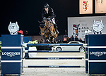 Marc Houtzager of The Netherlands riding Sterrehof's Edinus competes in the Masters One DBS during the Longines Masters of Hong Kong at AsiaWorld-Expo on 11 February 2018, in Hong Kong, Hong Kong. Photo by Ian Walton / Power Sport Images
