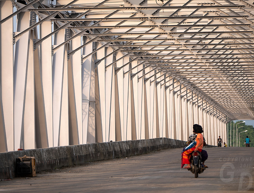 A modern Bridge on the way to MraukU in the Rakine State, Myanmar
