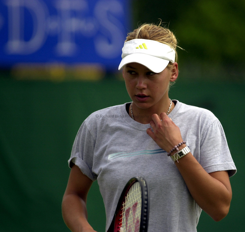 Photo: Richard Lane..DFS Classic Women's International Tennis at Edgebaston. 09/06/2003..Anna Kournikova.