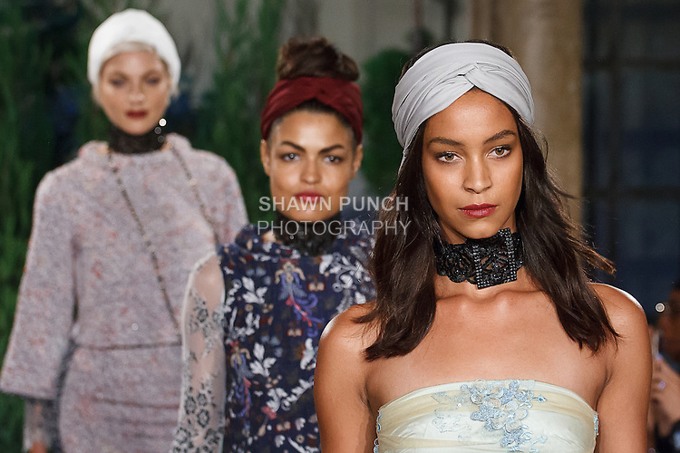 Models doing a final walk down runway in outfits from the Eva Mendes For New York & Company Spring Summer 2017 fashion show, on September 6 2016, at Academy Mansion during New York Fashion Week Spring Summer 2017.