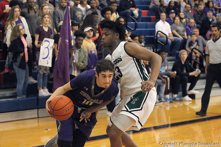 Chisholm Trail defeats Trimble Tech 67-63 in overtime during an area round of a 5A high school basketball playoff game at Richland High School on Friday, February 24, 2017.