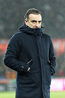 Swansea manager Carlos Carvalhal stands on the touch line during the Emirates FA Cup match between Swansea and Wolverhampton Wanderers at the Liberty Stadium, Swansea, Wales, UK. Wednesday 17 January 2018