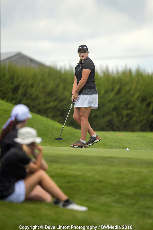 Ela Grimwood (North Harbour). 2016 Toro Women's Interprovincial Golf Championship at Westown Golf Club in New Plymouth, New Zealand on Friday, 9 December 2016. Photo: Dave Lintott / lintottphoto.co.nz
