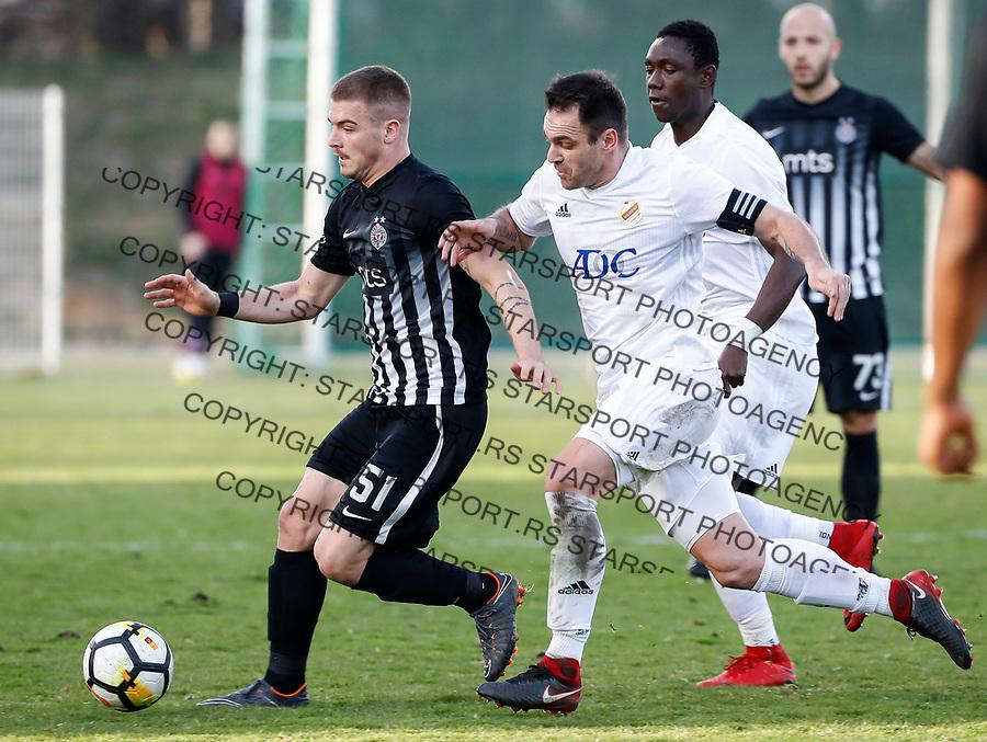 Fudbal Super League Season 2017-2018<br /> Cukaricki v Partizan<br /> Ognjen Ozegovic (L) and Nikola Drincic<br /> Beograd, 11.03.2018.<br /> foto: Srdjan Stevanovic/Starsportphoto &copy;