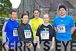 Keeping fit at the Gneeveguilla AC winter road race in Killarney on Saturday was l-r: Morgan Pierce, Mairead McCarthy, Kat Healy all Killarney, Niamh Horan Castleisland and Mark Williams Killarney....