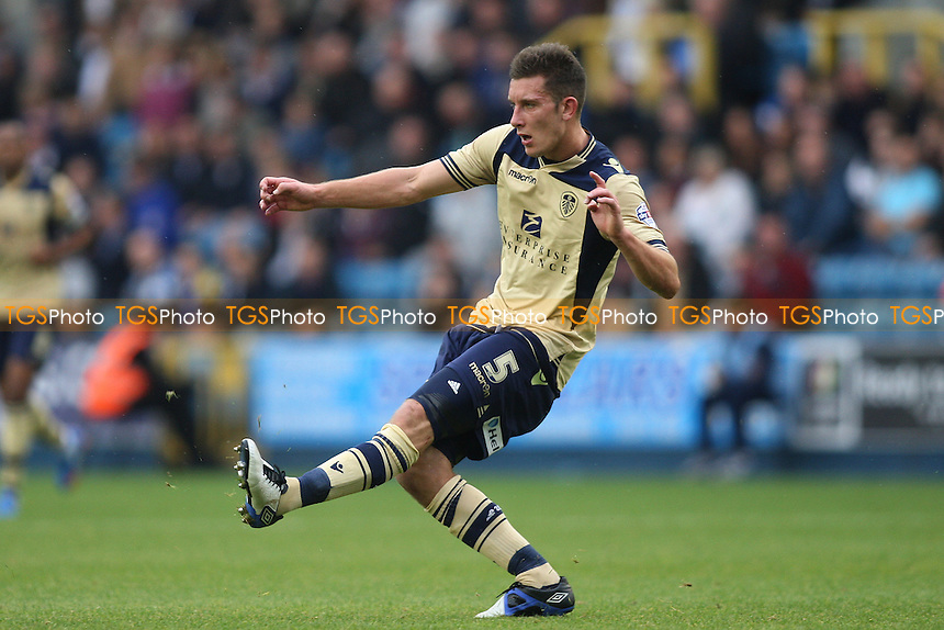 Jason Pearce of Leeds United- Millwall vs Leeds United - Sky Bet Championship Football at the New Den, South Bermondsey, London - 28/09/13 - MANDATORY CREDIT: George Phillipou/TGSPHOTO - Self billing applies where appropriate - 0845 094 6026 - contact@tgsphoto.co.uk - NO UNPAID USE