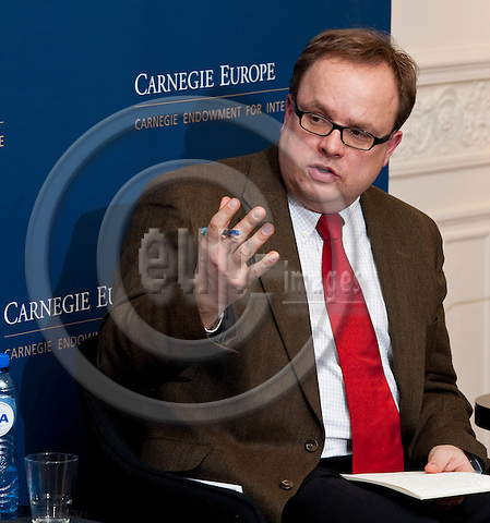 Brussels-Belgium - February 02, 2012 -- Panel discussion at Carnegie Europe (Carnegie Endowment for International Peace) moderated by Jan TECHAU, Director of Carnegie Europe -- Photo: Horst Wagner / eup-images