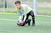Verona goalkeeper Owen Gibson holds Green Bay Notre Dame scoreless, as Verona tops Green Bay Notre Dame 4-0 on Saturday, 8/31/19, in boys high school soccer at Reddan Soccer Park in Verona, Wisconsin