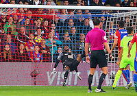 Steve Mandanda of Crystal Palace cannot stop Joel Matip of Liverpool header during the EPL - Premier League match between Crystal Palace and Liverpool at Selhurst Park, London, England on 29 October 2016. Photo by Steve McCarthy.