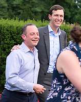 White House Chief of Staff Reince Priebus, left and Senior Advisor Jared Kushner are all smiles at the annual Congressional Picnic on the South Lawn of the White House in Washington, DC on Thursday, June 22, 2017.<br /> Credit: Ron Sachs / CNP /MediaPunch