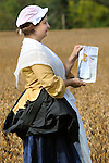 Heritage Days Festival. Union County. Wash lady with colonial sketch duplicating outfit.