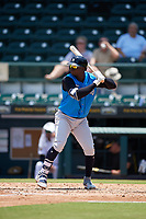 Tampa Tarpons Didi Gregorius (11), on rehab assignment from the New York Yankees, at bat during a Florida State League game against the Bradenton Marauders on May 26, 2019 at LECOM Park in Bradenton, Florida.  Bradenton defeated Tampa 3-1.  (Mike Janes/Four Seam Images)