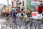 Sean Lacey the leading Kerry cyclist finshes the final the stage of Ras Mumhan in Killorglin on Monday