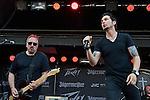 Ric Ivanisevich and Thomas Flowers of Orelander perform during the 2013 Rock On The Range festival at Columbus Crew Stadium in Columbus, Ohio.