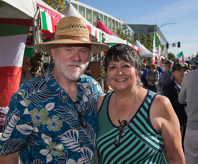 Vernon LaMar and Pauline Earls from Redding, CA attend the 35th Annual Eldorado Great Italian Festival held in downtown Reno on Saturday, October 8, 2016.
