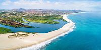 aerial view of Estero San Jose del Cabo, Los Cabos, Baja California, Mexico, Gulf of California, or Sea of Cortez, Pacific Ocean