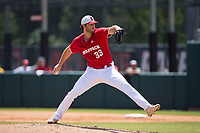 North Carolina State Wolfpack starting pitcher Johnny Piedmonte (33) in action against the Army Black Knights at Doak Field at Dail Park on June 3, 2018 in Raleigh, North Carolina. The Wolfpack defeated the Black Knights 11-1. (Brian Westerholt/Four Seam Images)