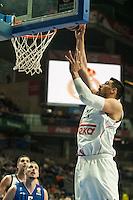 Real Madrid´s Gustavo Ayon during 2014-15 Euroleague Basketball match between Real Madrid and Anadolu Efes at Palacio de los Deportes stadium in Madrid, Spain. December 18, 2014. (ALTERPHOTOS/Luis Fernandez) /NortePhoto /NortePhoto.com