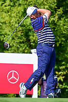 J.B. Holmes (USA) watches his tee shot on 10 during the practice round at the Ryder Cup, Hazeltine National Golf Club, Chaska, Minnesota, USA.  9/29/2016<br /> Picture: Golffile | Ken Murray<br /> <br /> <br /> All photo usage must carry mandatory copyright credit (&copy; Golffile | Ken Murray)