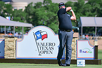 Andres Gonzales (USA) watches his tee shot on 11 during round 4 of the Valero Texas Open, AT&amp;T Oaks Course, TPC San Antonio, San Antonio, Texas, USA. 4/23/2017.<br /> Picture: Golffile | Ken Murray<br /> <br /> <br /> All photo usage must carry mandatory copyright credit (&copy; Golffile | Ken Murray)