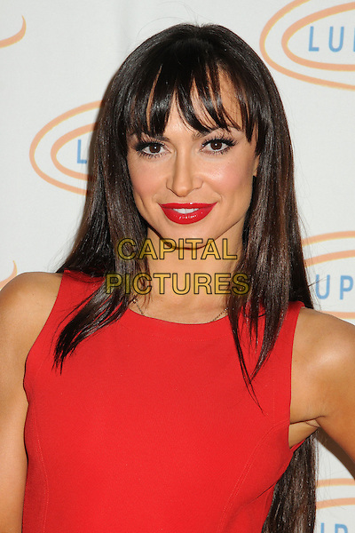 Karina Smirnoff.12th Annual Lupus LA Orange Ball held at the Beverly Wilshire Hotel, Beverly Hills, California, USA..May 24th, 2012.headshot portrait lipstick red sleeveless .CAP/ADM/BP.©Byron Purvis/AdMedia/Capital Pictures.
