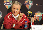 FSU head coach Bobby Bowden in the press conference after the Seminoles defeated the Wisconsin Badgers 42-13 in the 2008 Champs Sports Bowl in Orlando December 27, 2008.   (Mark Wallheiser/TallahasseeStock.com)