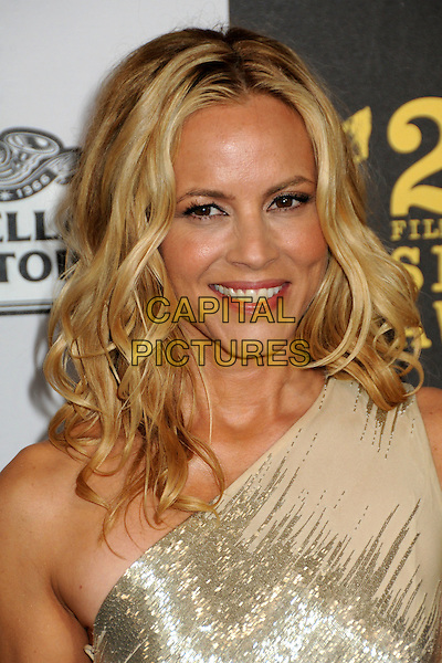 MARIA BELLO.25th Annual Film Independent Spirit Awards - Arrivals held at the Nokia Event Deck at L.A. Live, Los Angeles, California, USA..March 5th, 2010.headshot portrait gold nude beige cream one shoulder shiny .CAP/ADM/BP.©Byron Purvis/AdMedia/Capital Pictures.