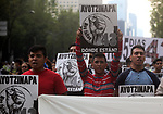 Thousands of protesters stage a rally demanding justice for th 43 disappeared students of the Escuela Normal Isidro Burgos on the main Mexico City's throughfare Paseo de la Reforma, September 26, 2017. 43 students were hijacked by paramilitary and coordinated by federal and state policemen in the city of Iguala in the southern state of Guerrero on September 26, 2014. Photo by Heriberto Rodriguez