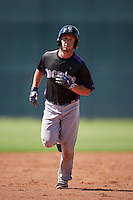 Colorado Rockies Max George (18) runs the bases after hitting a home run during an Instructional League game against the San Francisco Giants on October 8, 2016 at the Giants Baseball Complex in Scottsdale, Arizona.  (Mike Janes/Four Seam Images)