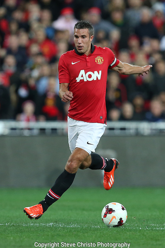 Manchester United's Robin Van Persie in action against the A-League All Stars at Stadium Australia, Sydney, Australia. Saturday, 20th July, 2013. (Photo: Steve Christo)