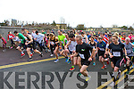 The runners take off at the start of the Muire Gan Smál 5km in Castleisland on Sunday morning led by Kevin griffin, John Barrett, Robert Purcell and Arthur Fitzgerald