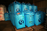 Nitram fertiliser bags stored in a barn