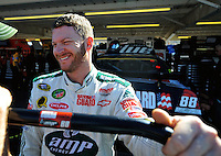 Nov. 8, 2008; Avondale, AZ, USA; NASCAR Sprint Cup Series driver Dale Earnhardt Jr during practice for the Checker Auto Parts 500 at Phoenix International Raceway. Mandatory Credit: Mark J. Rebilas-