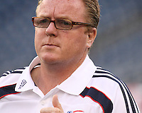 New England Revolution head coach Steve Nicol.  The New England Revolution drew FC Dallas 1-1, at Gillette Stadium on May 1, 2010