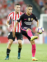 Athletic de Bilbao's Oscar de Marcos (l) and FC Barcelona's Denis Suarez during La Liga match. August 28,2016. (ALTERPHOTOS/Acero) /NORTEPHOTO