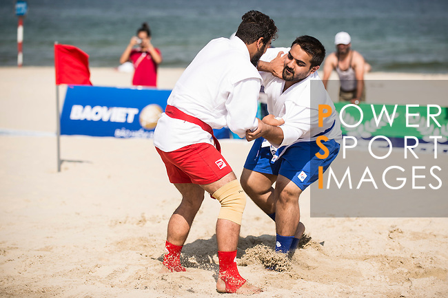 MALIK YAR Mohammad Arif of Afghanistan vs GANDHI Fenil Daxesh of India during the Sambo Men's +90kg on Day Nine of the 5th Asian Beach Games 2016 at Bien Dong Park on 02 October 2016, in Danang, Vietnam. Photo by Marcio Machado / Power Sport Images
