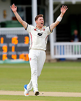 Matt Henry appeals during the County Championship Division 2 game between Kent and Gloucestershire at the St Lawrence Ground, Canterbury, on April 15, 2018.
