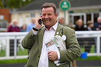 A happy connection of N over J makes a call after winning Winner of The Bathwick Car & Van Hire Novice Auction Stakes during Bathwick Tyres Reduced Admission Race Day at Salisbury Racecourse on 9th October 2017
