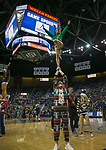 Nevada cheerleaders during a NCAA college basketball game against South Dakota State in Reno, Nev., Saturday, Dec. 15, 2018. (AP Photo/Tom R. Smedes)