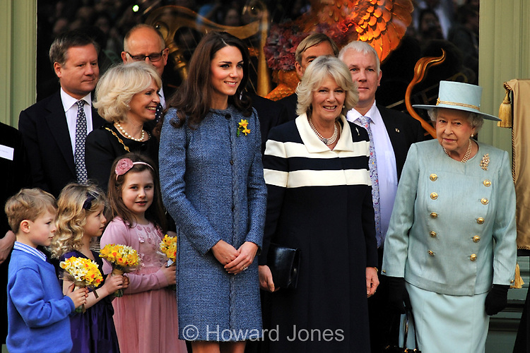 The Queen, Duchess Of Cornwall, and Duchess of Cambridge, visit Fortnum &amp; Mason. 1st March 2012<br /> <br /> &copy; Howard Jones, tel  020 8851 3753 email hcjones53@gmail.com