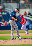 28 February 2017: Houston Astros pitcher Ken Giles steps back to the mound after serving up a home run to Derek Norris during the Spring Training inaugural game against the Washington Nationals at the Ballpark of the Palm Beaches in West Palm Beach, Florida. The Nationals defeated the Astros 4-3 in Grapefruit League play. Mandatory Credit: Ed Wolfstein Photo *** RAW (NEF) Image File Available ***