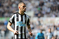 Islam Slimani of Newcastle United during Newcastle United vs Arsenal, Premier League Football at St. James' Park on 15th April 2018